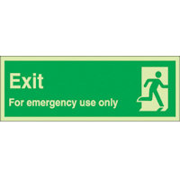 SKU948 exit for emergency use only