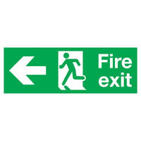 SKU955 fire exit arrow man left