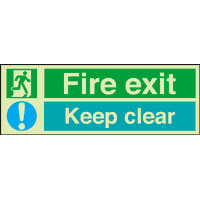 SKU968 fire exit keep clear