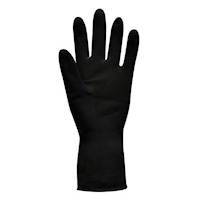 Jet Heavy Duty Natural Rubber Glove - Flock Lined