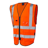 Hi Vis Clothing: LE-1161 Superior waistcoat Orange