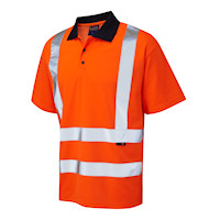 Hi Vis Clothing: LE-2036CV Poly/Cotton Polo Shirt