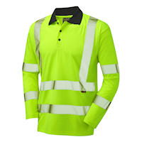 Hi Vis Clothing: LE-2041 Poly/Cotton Polo Shirt Long Sleeve
