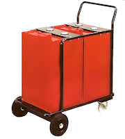 15-1172 Mobile lube dispensing trolley, 2 x 120 ltr tanks