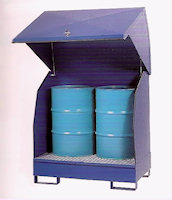 31-1130 2-drum steel spill pallet, painted