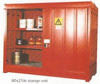 31-1304 80 x 25ltr drum storage unit