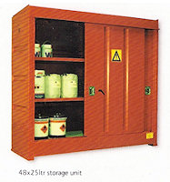 31-1305 48 x 25ltr drum storage unit