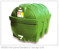 31-1406 1800 ltr horizontal bunded oil storage tank