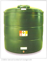31-1414 2500 ltr vertical bunded oil storage tank