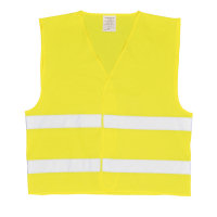 Hi Vis Clothing: PW- C474 2 Chest Band Waistcoat, Fully Certified to EN471 class 2.