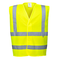 Hi Vis Clothing: PW-FR71  HiVis Anti Static vest with flame resistant finish