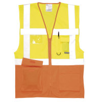 Hi Vis Clothing: PW-S376 Executive Vest, Certified EN 471, Class 2:2.