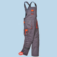 PW-TX17 Texo contrast Bib and Brace - lined