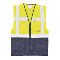 Hi Vis Clothing: PW-C476 Two-Tone Executive Vest, Fully Certified to EN471 Class 1:2.