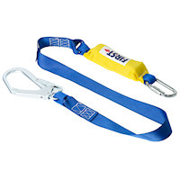 AE5111 Shock Absorbing Lanyard 1.75m With Scaffold Hook And Twist-Lock Karabiner