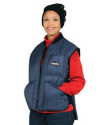 Cooler Wear (For temperatures to 0F/-17C): RW-0599 Cooler Vest, thermal stretch knit side gussets for snug fit,  For temperatures to 0F/-17C