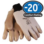 Gloves: RW-0251 Waterproof latex grip offers better handling of wet, cold objects, For temperatures to -20F/-28C