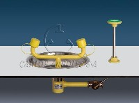 CA-2215 SS Emergency eyewash, table recessed mounting, stainless steel bowl