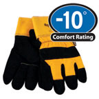 0314 Cowhide and Canvas leather palm,finger tips, For temperatures to -10F/-23C