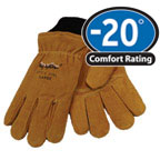 0316 Insulator Glove Rugged split cowhide., For temperatures to -20F/-28C
