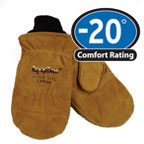 Gloves: RW-0317 Insulator Mitt rugged split cowhide for durability. For temperatures to -20F/-28C