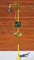 CA-4220 SS Emergency shower/eyewash,floor mounting