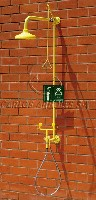 CA-4295 Emergency shower / drench hose double spray eyewash, wall mounting