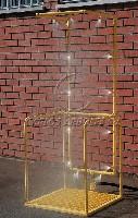 CA-4810 Self-draining decontamination booth platform, 14 sprays