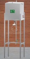 CA-4820 TI/TS Emergency shower / eyewash in stainless steel, overhead tank