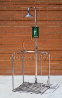 CA-4710TI Self-Draining Emergency Shower Platform In Stainless Steel