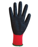 Light Duty gloves: Grip It Plus Seamless knitted acrylic liner with waffle-embossed latex palm coating