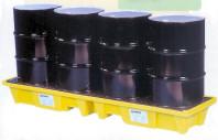 Drum Spill Pallets : In line poly spillpallet