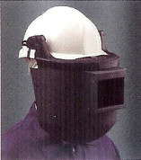 Welding Helmets: Welding Shield  Welding mask mounted on helmet.
