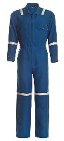 Coveralls: WR-114NX45 4.5 oz. Nomex IIIA Industrial Coverall with Reflective Tape