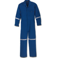 Coveralls: WR-114NX60 6 oz Nomex IIIA Industrial Coverall with Reflective Tape
