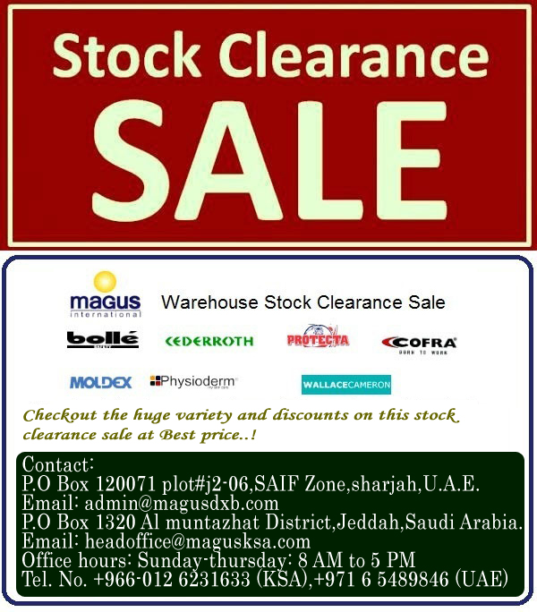 MAGUS Warehouse stock clearance sale